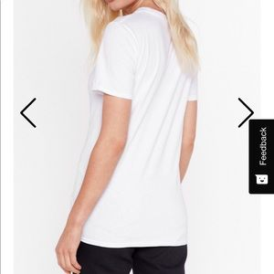 Nasty Gal Tops - Double middle finger tee